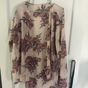 Lightweight Floral Cardigan/Coverup